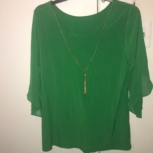 Brand new green tunic blouse